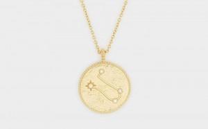 Lanț cu pandantiv din aur cu zodie, realizat pe comanda in strada Ilioara nr. 14i