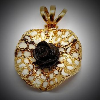 Pandantiv-Aur-cu-Trandafir-1