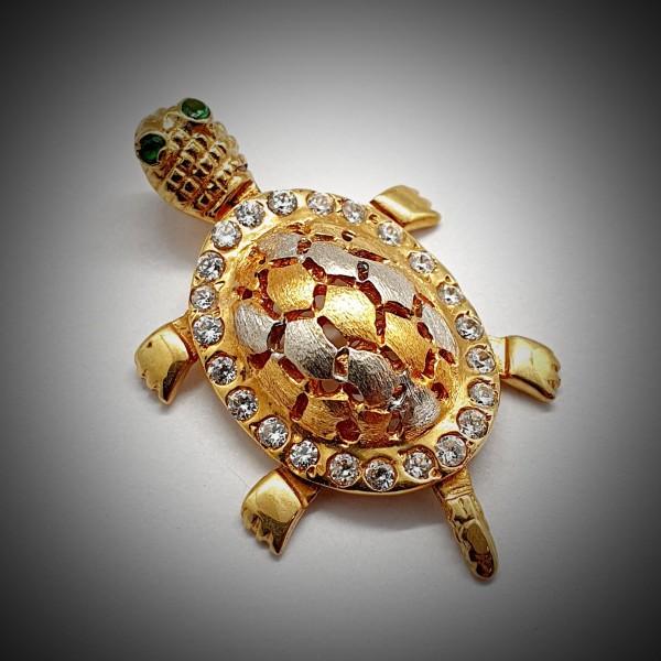 Pandantiv-Broasca-Testoasa-din-Aur-Galben-1