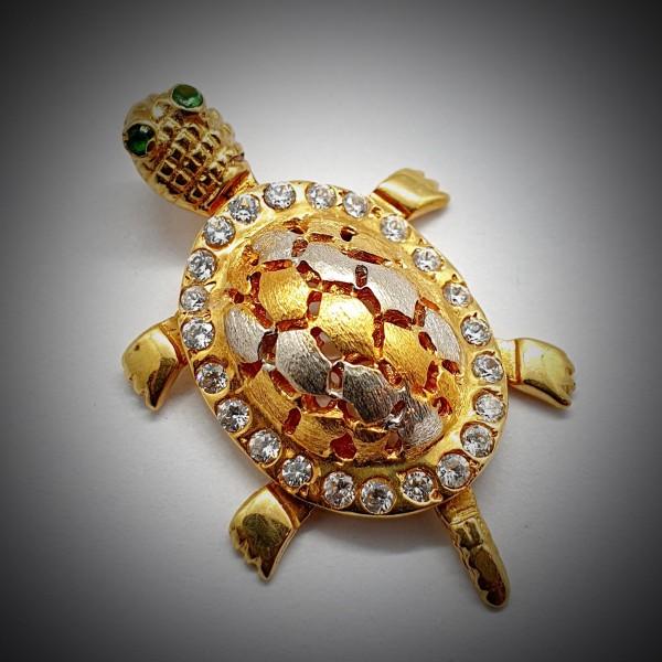 Pandantiv-Broasca-Testoasa-din-Aur-Galben-2