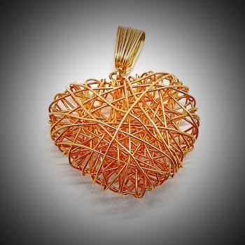Pandantiv-din-Aur-Galben-in-Forma-de-Inima-1