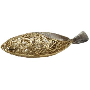 Pandantiv din Aur Galben si Alb, 14k