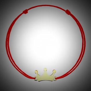 Bratara cu snur si coroana din aur