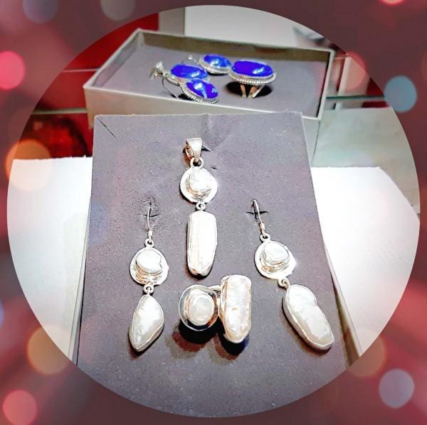 Set bijuterii din argint si perle naturale (SP3)