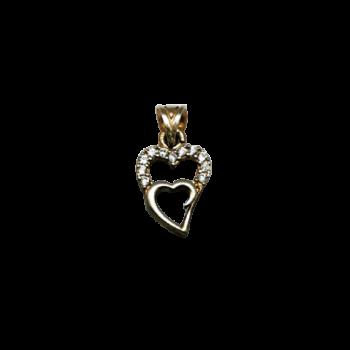 Pandantiv de argint 925 două inimi