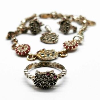 Set de bijuterii de argint hello kitty