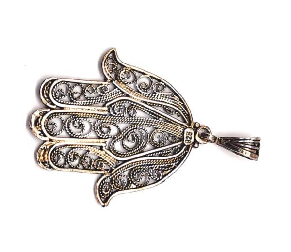 Pandantiv de Argint 925 Hamsa sau Mâna Fatimei